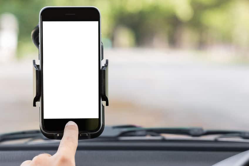 telefono en soporte