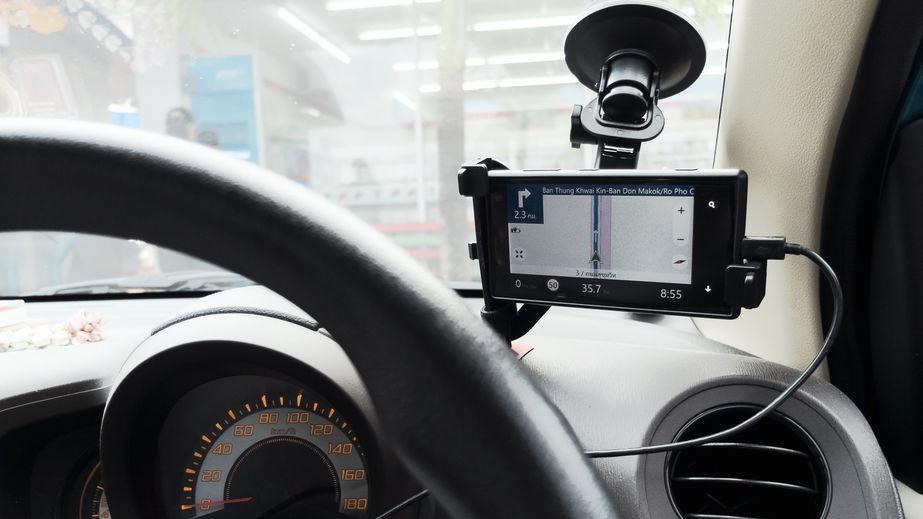 GPS en auto