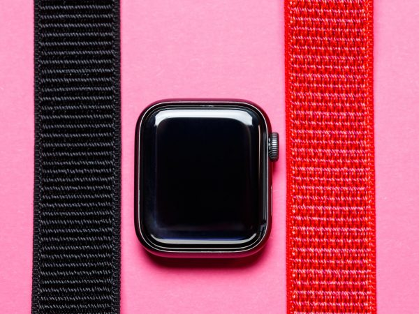 neylon strap for smart watch with velcro black color
