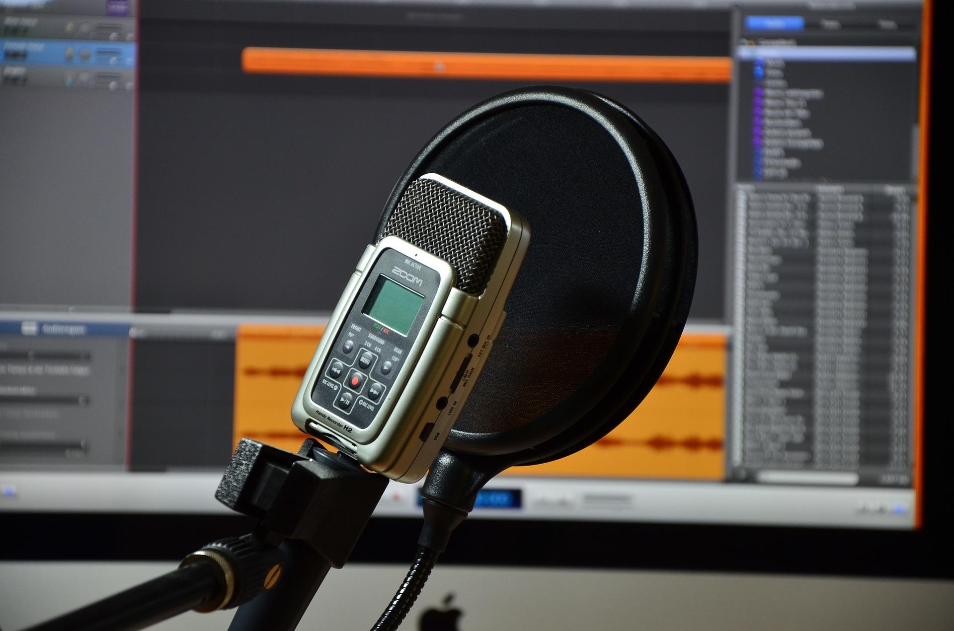 grabadora en estudio