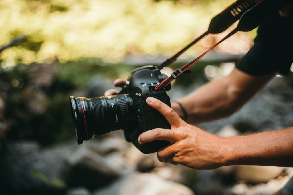 tomando fotografías profesionales