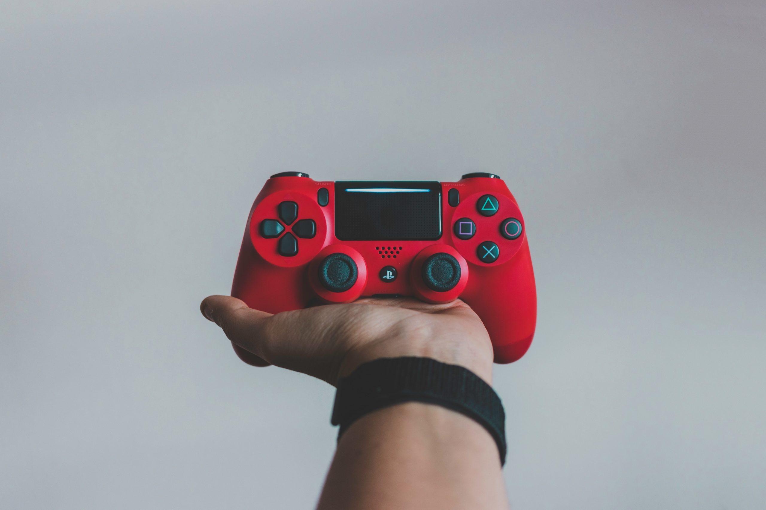 Joystick rojo de PS4