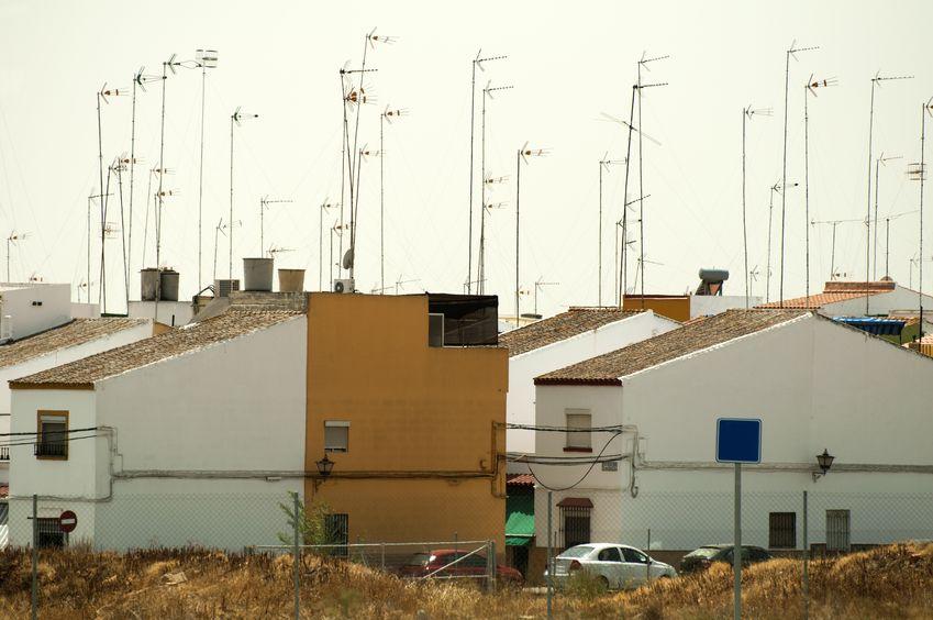 antenas de tv en casas