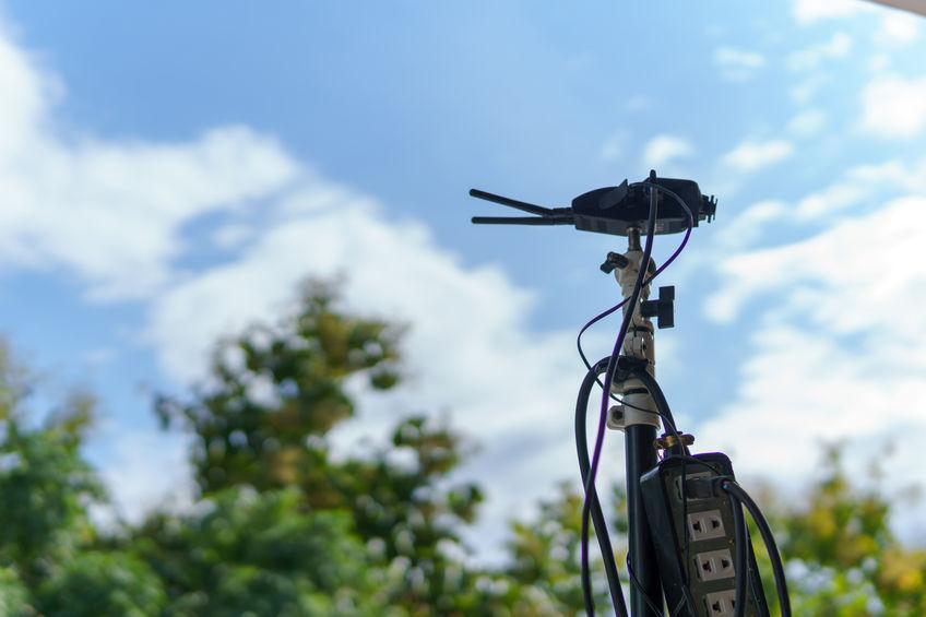 antena de router fuera de casa
