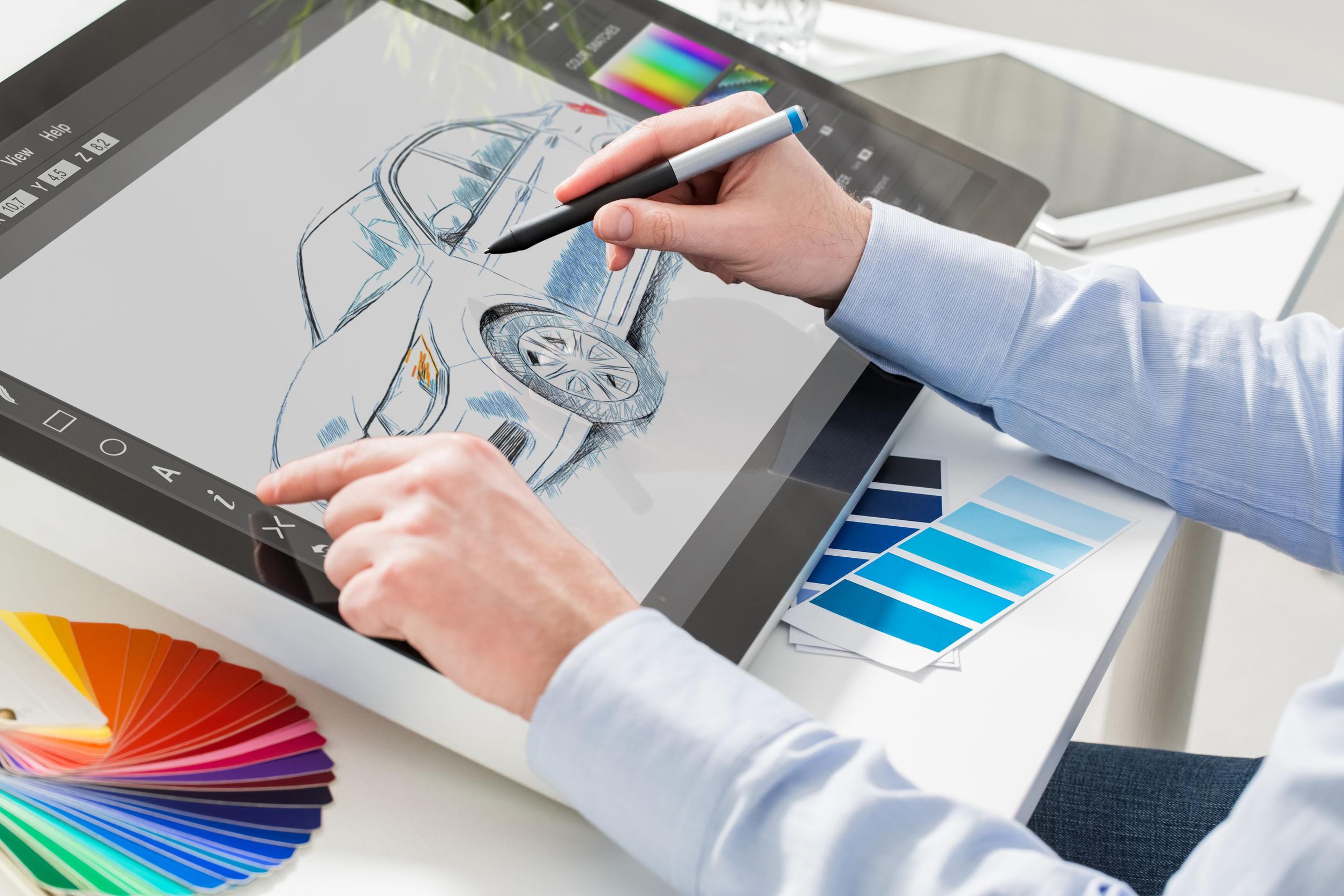 tableta de dibujo a colores
