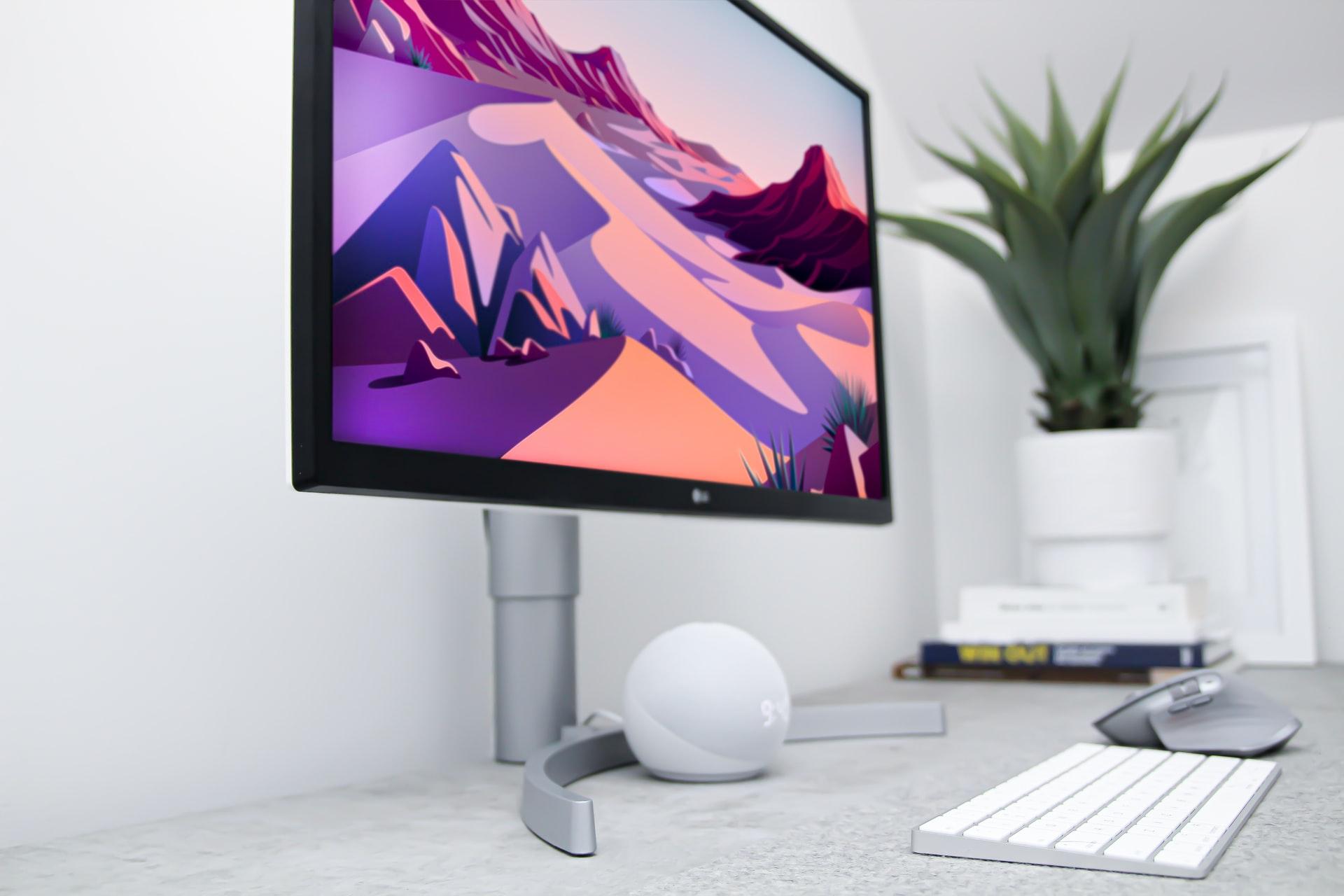 monitor de colores vivos