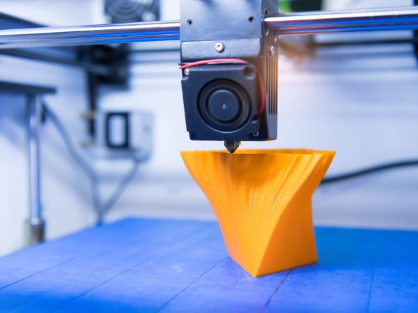 80487459 – 3d printer printing figure close-up macro
