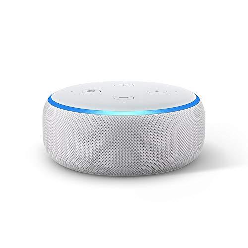 Echo Dot (3.ª generación) Reacondicionado Certificado - Altavoz inteligente con Alexa, tela de color gris claro