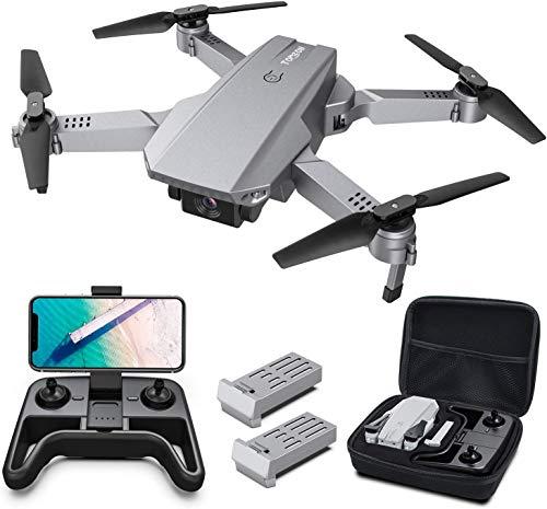 Tomzon D25 RC Drone con cámara 4K, Drone para Principiantes, Posicionamiento de la luz, Fotografía de Gestos con Las Manos, Vuelo de Ruta, Flips 3D, Modo MV, 2 Baterías, Vuelo de 24 Minuto