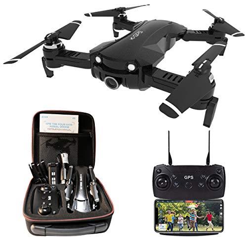 Le-idea Drone con Camara 4K HD, Drone 5GHz WiFi FPV, Drones GPS con Camara Profesional, Dron Plegable RC, Modo sin Cabeza, Largo Tiempo de Vuelo 15 Minutos, Drone para Niños/Principiantes